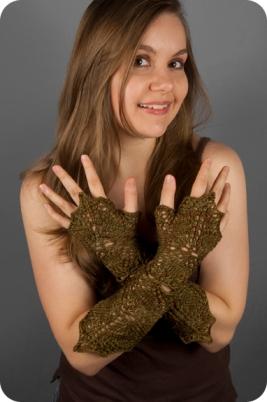 Flower Wrist Warmers