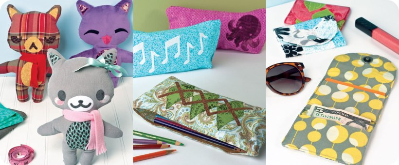 Mr. & Mrs. Cat Plushes, Quick Zip Pouches, & In-a-Snap Wallets Photos © Design Originals