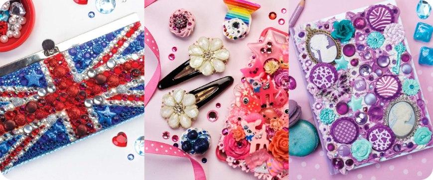 Union Jack Clutch, Double Decker Pink Cell Phone Case, Purple Swirls Journal Photos © Design Originals
