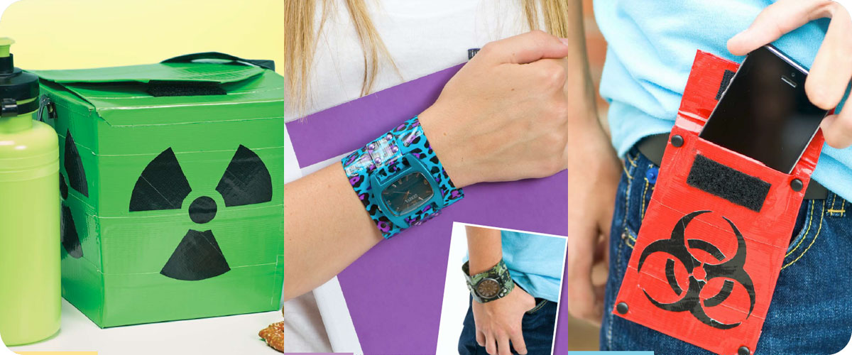Duct Tape Craft Ideas For Kids Part - 44: From Left To Right: Lunch Box, Watch Cuff, Belt Pouch Photos © Design