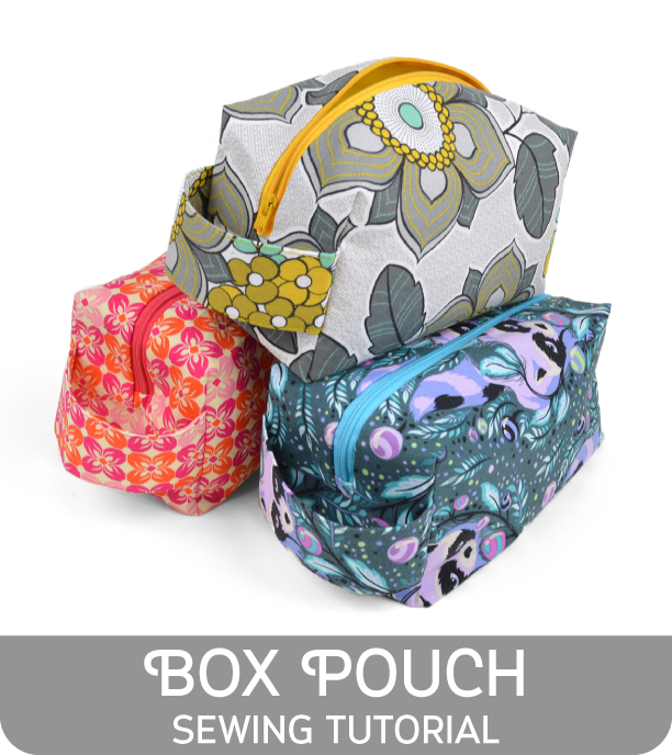 Lined cosmetic bag sewing pattern