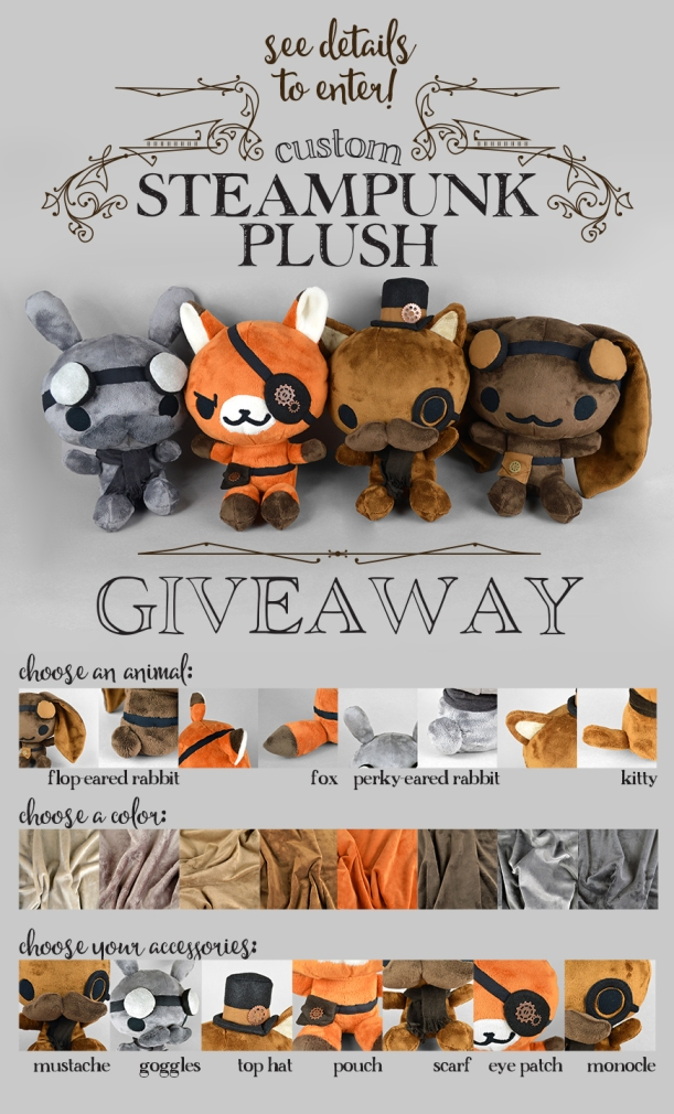Steampunk Plush Giveaway