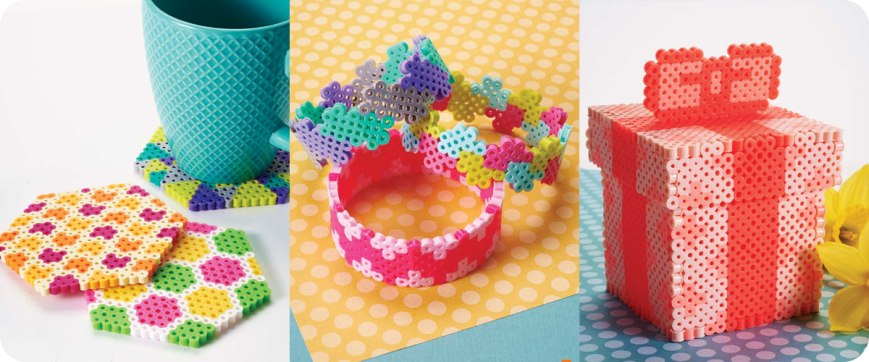 From left to right: Hexagon coasters, Bangle bracelets, Gift box Photos © Design Originals