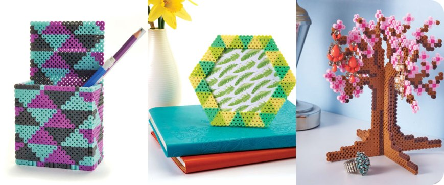 From left to right: Pen holder, Hexagon frame, Jewelry tree Photos © Design Originals