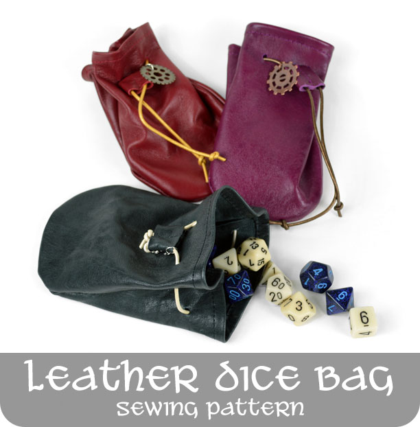 picture about Dice Bag Printable Pattern titled Freebie Routine Friday! Leather-based Cube Bag Choly Knight