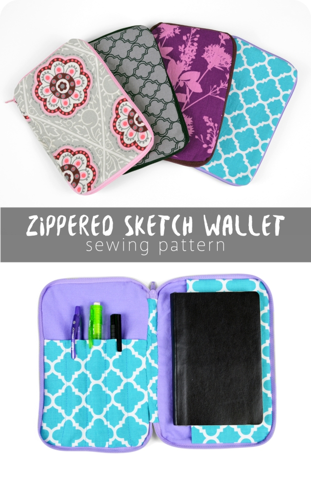 Free Pattern Friday! Zippered Sketch Wallet | Choly Knight