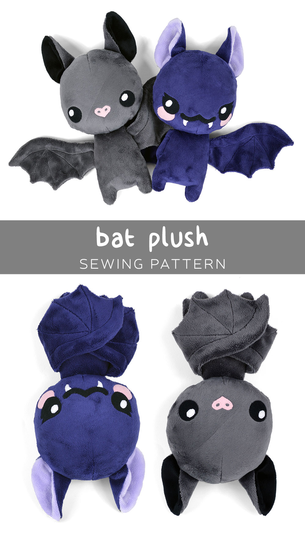 graphic about Free Printable Stuffed Animal Patterns identified as Totally free Routine Friday! Bat Plush Choly Knight