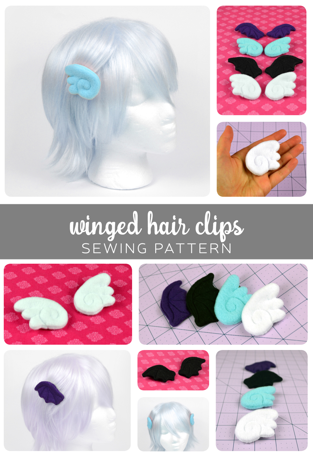 Free Pattern Friday! Winged Hair Clips | Choly Knight