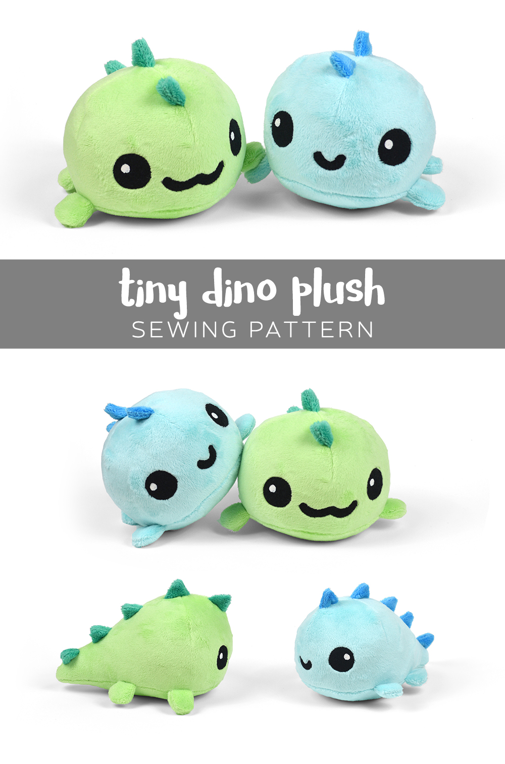 Free pattern friday tiny dino plush choly knight for Sewing templates for stuffed animals