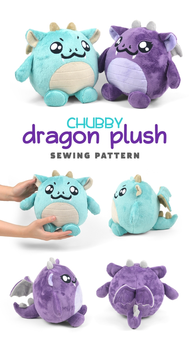 New Shop Pattern Chubby Dragon Plush Choly Knight