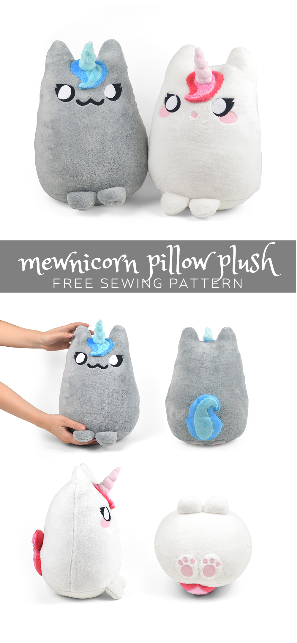 Free pattern friday mewnicorn pillow plush choly knight todays pattern isnt so much a direct response to requests i had been getting only in that people have been asking for more cats i cant blame them jeuxipadfo Gallery