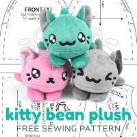 Free Pattern Friday! Kitty Bean Plush