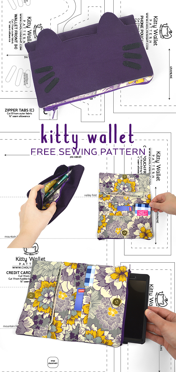 Free Pattern Friday! Kitty Wallet | Choly Knight