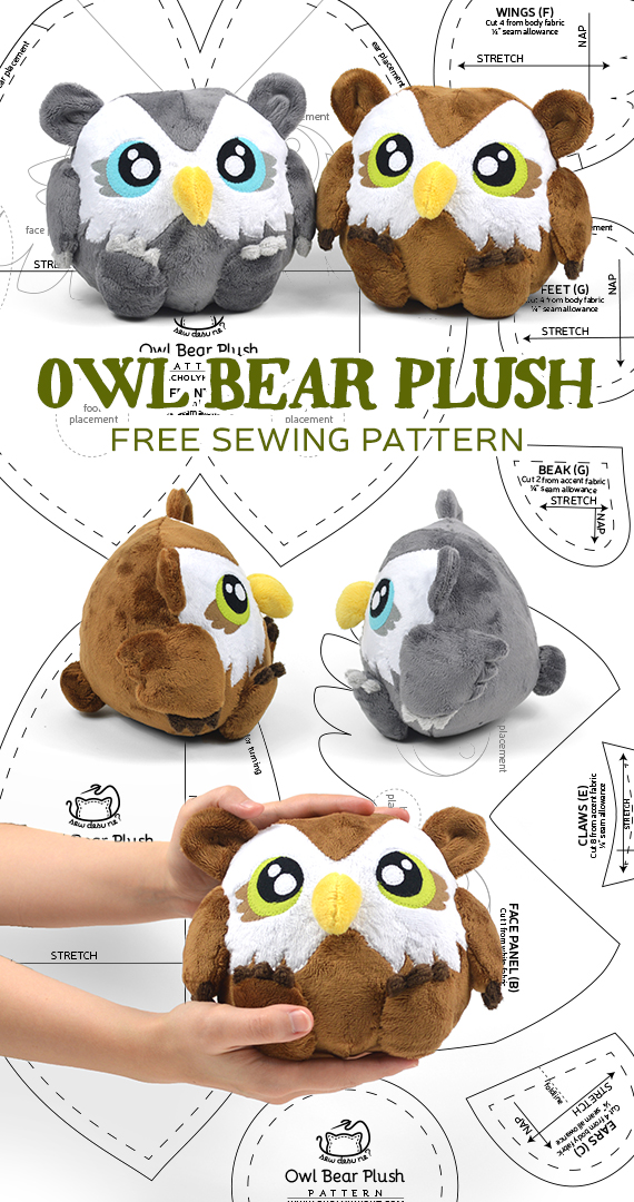 Free Pattern Bonus! Owl Bear Plush | Choly Knight