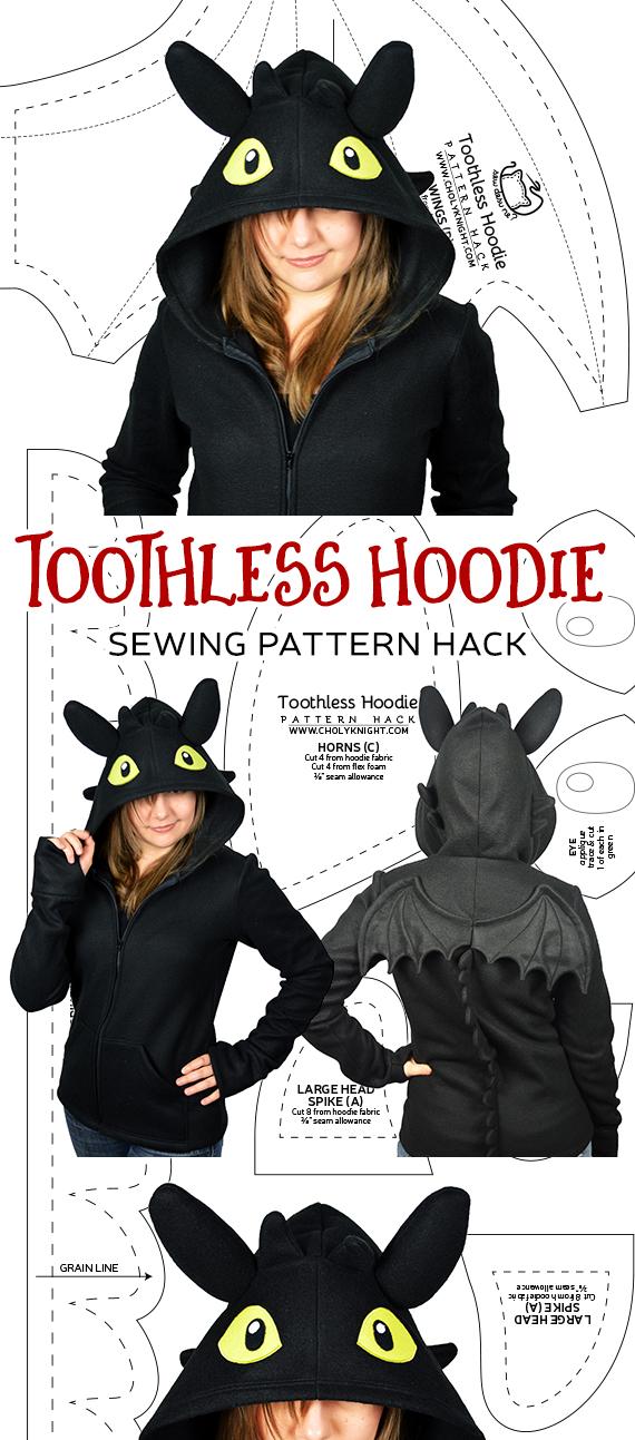 Pattern Hack! Night Fury Hoodie   Choly Knight