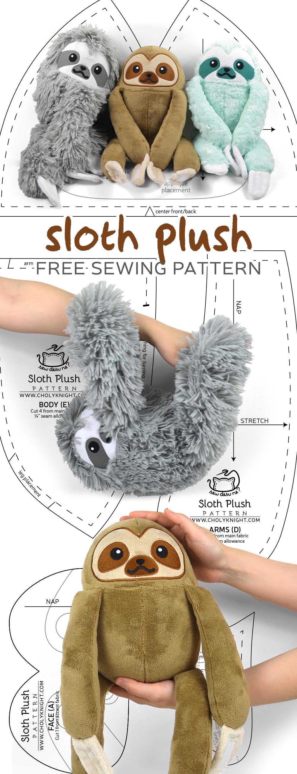 Free Pattern Friday! Sloth Plush   Choly Knight