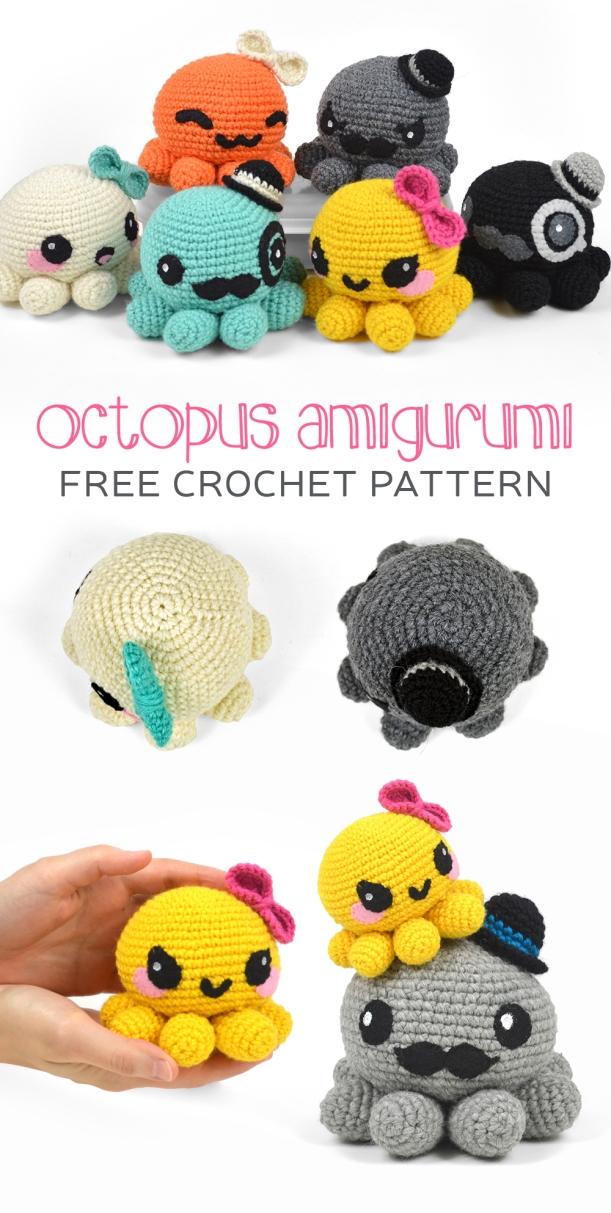 Crochet Nessie Monster Anigurumi Free Patterns | 1213x611
