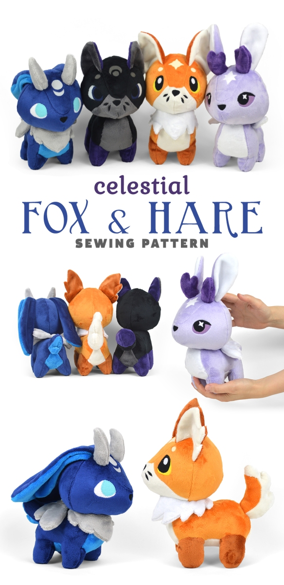 New Shop Pattern Celestial Fox Hare Plush Choly Knight