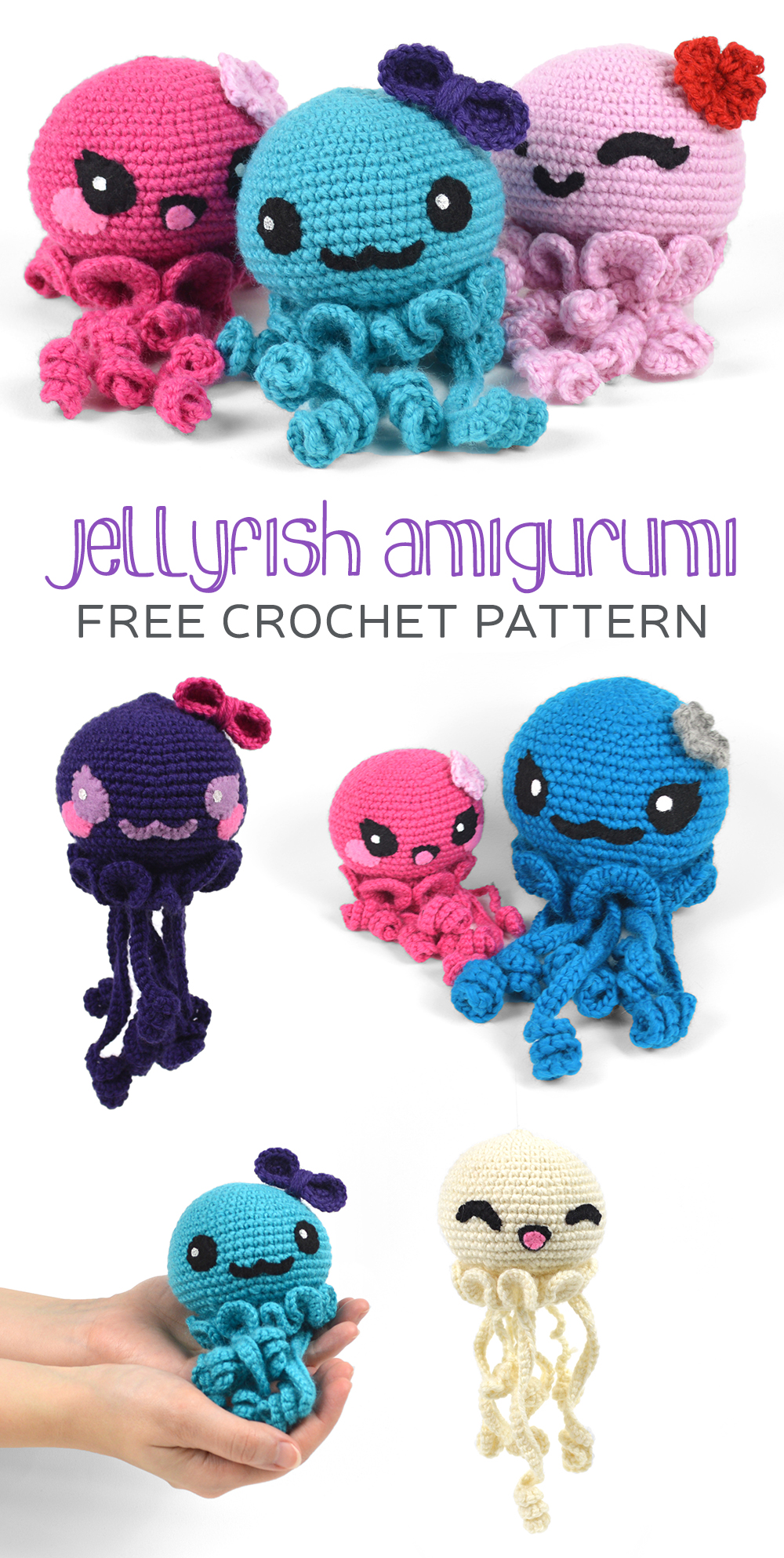 Free (Crochet) Pattern Friday! Jellyfish Amigurumi  cc1b7b7b56fd