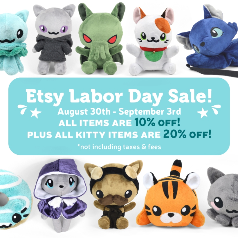 Etsy Labor Day Sale Choly Knight