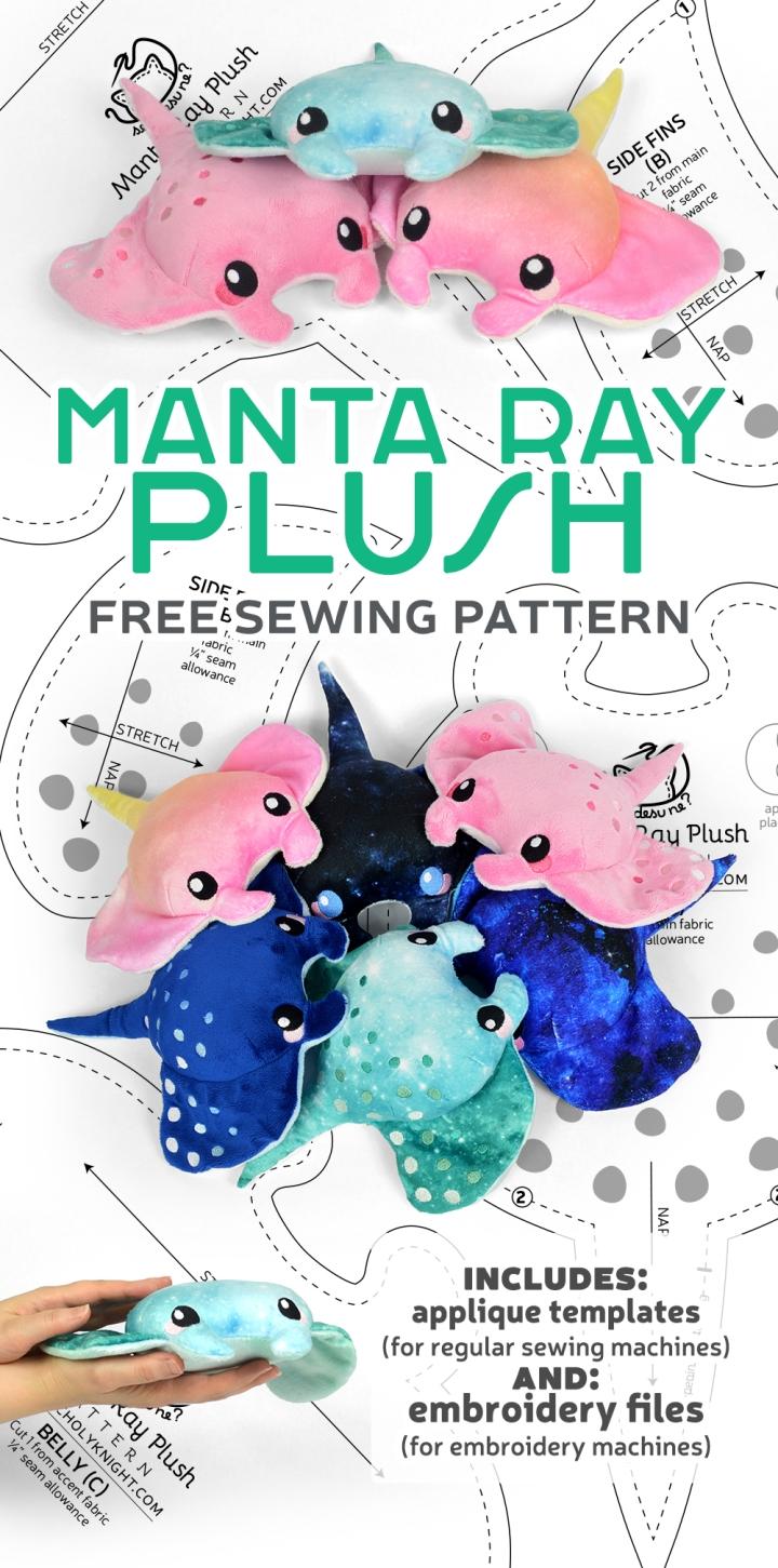 Manta Ray Plush Sewing Pattern