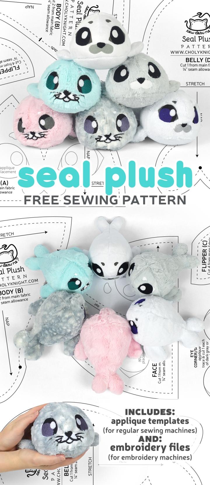 Seal Plush Sewing Pattern